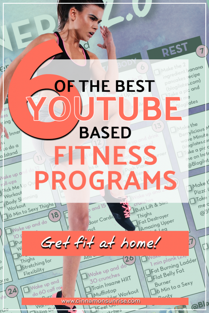 The best online youtube based fitness programs and calendars