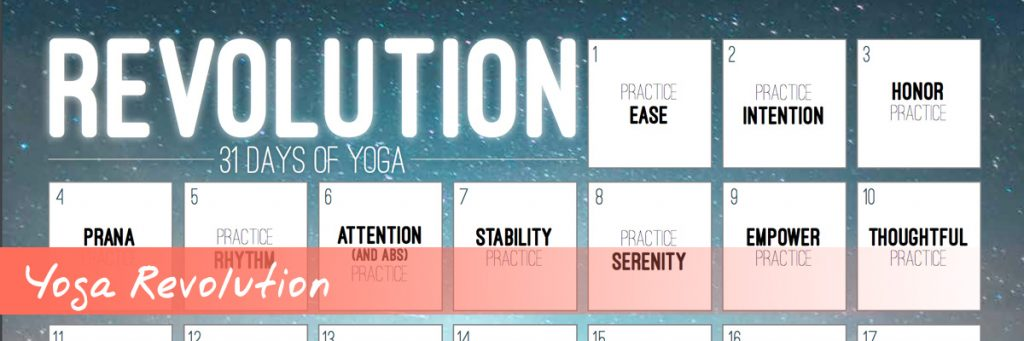 Yoga Revolution YouTube Workout Calendar