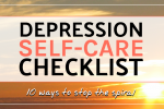 Depression self-care checklist