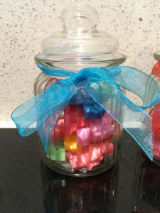 Lego soap in a jar