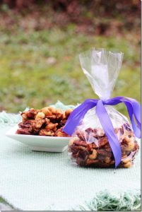 Candied nuts gift for vegans