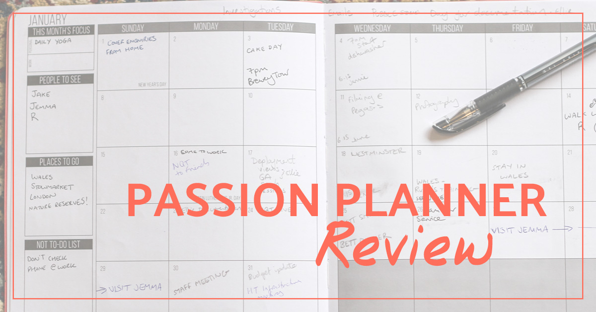 Passion Planner Review Cinnamon Sunrise - Productivity planner review
