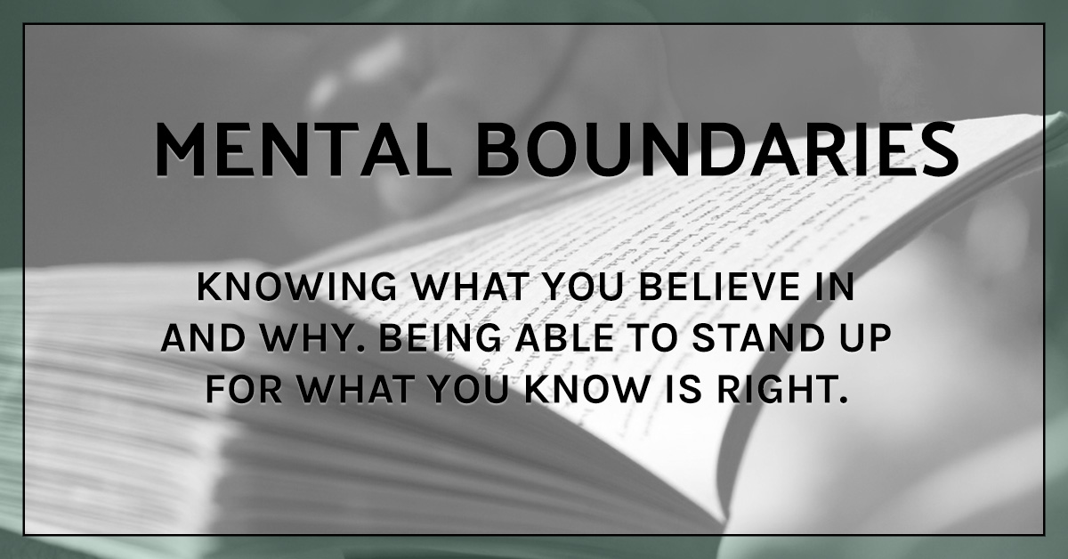 How to set healthy boundaries: mental boundaries