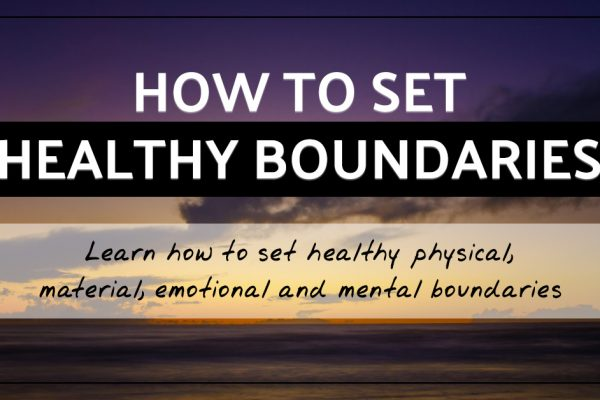 Learn how to set healthy boundaries
