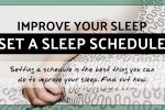 Set a consistent sleep schedule