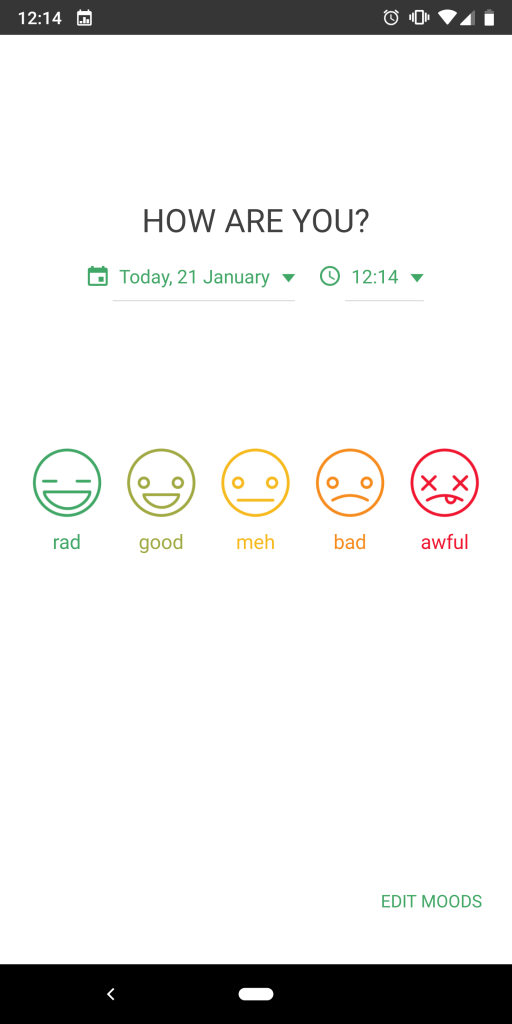 Daylio mood tracking