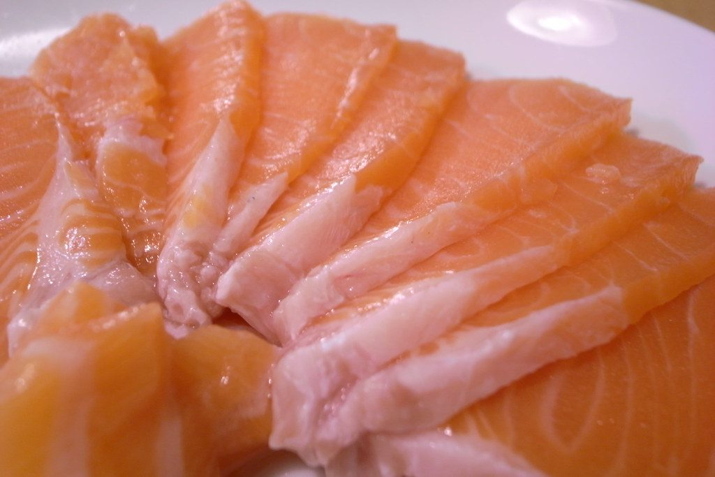 Salmon sashimi - source of omega 3