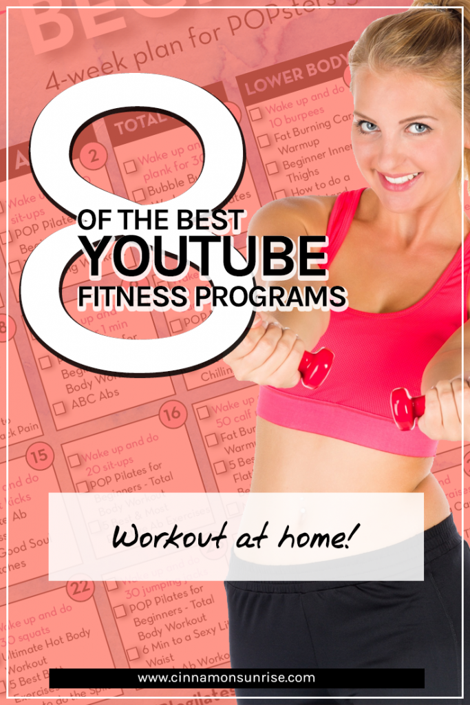 Discover the best online YouTube based fitness programs for people who want a bit more structure to their home fitness routine. #workout #fitness #homeworkout